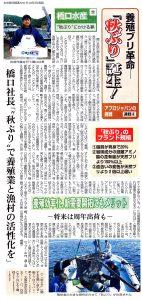 アプロジャパンの挑戦④ 橋口水産「秋ぶり」にかける夢(下)養殖効率化、新需要開拓にもメリット